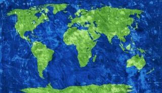 Welt grunge map getreide Kostenlose Fotos