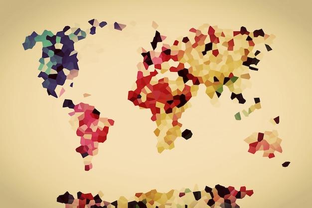 Weltkarte mit bunten polygone download der kostenlosen fotos for Weltkarte mit fotos