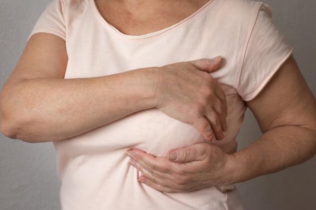 Wie überprüfe ich brustkonzept, brustkrebs-bewusstsein? Premium Fotos