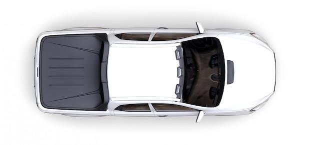 Wiedergabe 3d des weißen konzeptfracht-kleintransporters Premium Fotos