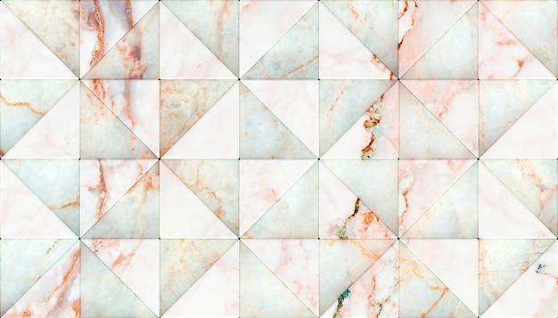 Wiedergabe 3d von marmordreieckformplatten. Premium Fotos