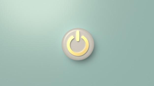 Wiedergabe des startknopfsymbols 3d für hintergrund. Premium Fotos