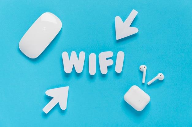 Wifi mit pfeilen geschrieben Kostenlose Fotos