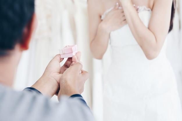 Willst du mich geerntet heiraten? Premium Fotos