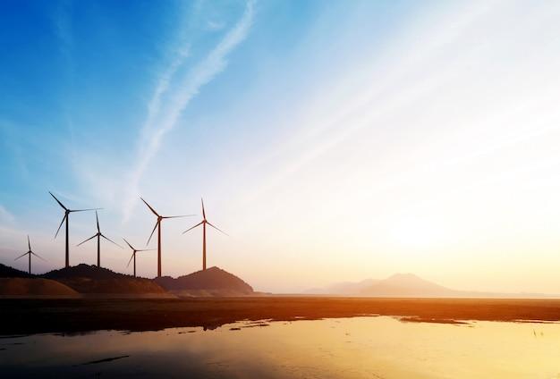 Windenergieanlagen Premium Fotos