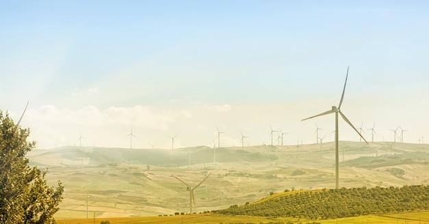 Windkraftanlagen Premium Fotos