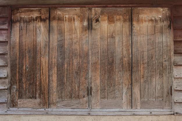 Windows gemacht vom alten holz, altes holz masert hintergründe Premium Fotos