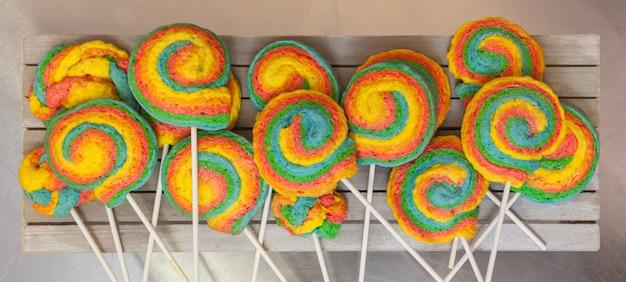 Windräder lollypop für karneval Premium Fotos