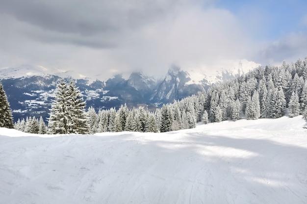 Winterliche landschaft Premium Fotos