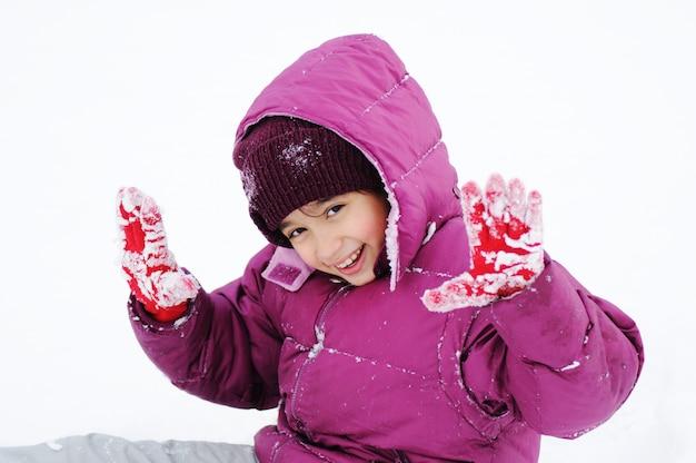 Winterszene, natürliche schönheit Premium Fotos