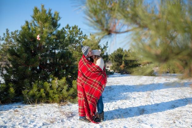 Winterwanderung durch den wald Premium Fotos