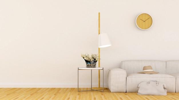 Wohnbereich in der kaffeestube oder im restaurant - wiedergabe 3d Premium Fotos