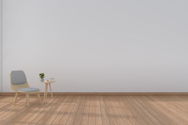 Wohnzimmer mit modernen Stühlen, 3D-Rendering   Download der Premium ...