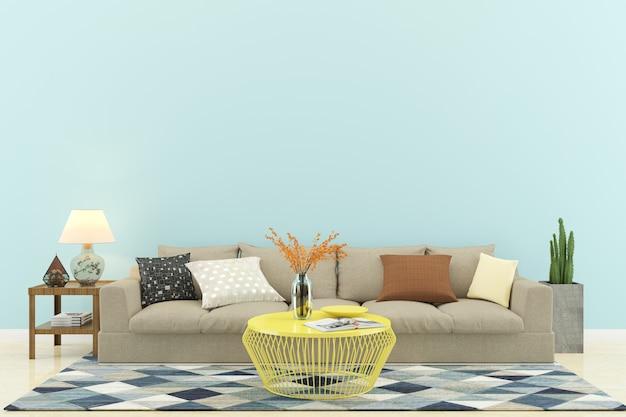 Wohnzimmerinnenwand haus boden vorlage hintergrund Premium Fotos