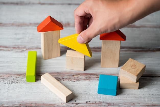 Wood home & wohnsiedlungskonzept Premium Fotos