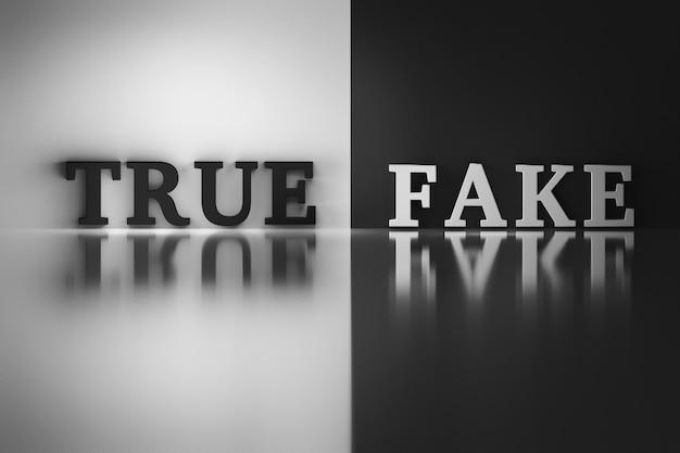 Worte - wahr und falsch Premium Fotos