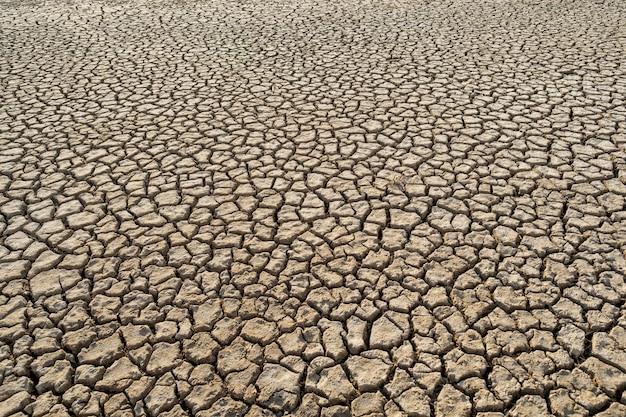 Wüstenwärme schmutz ton globale erwärmung textur muster, winkelansicht Premium Fotos