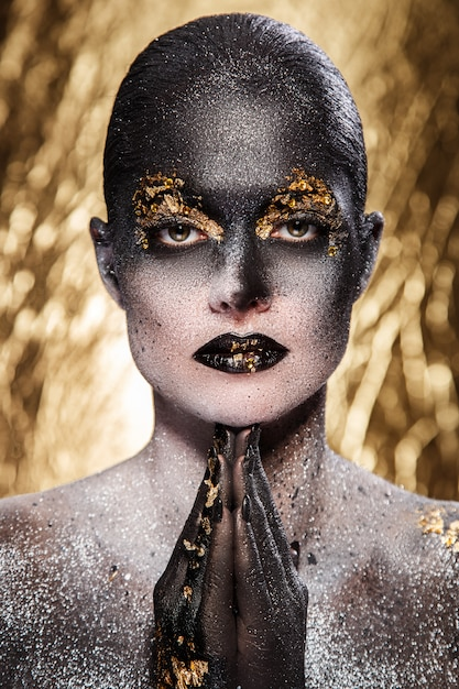 Wunderschönes, künstlerisches make-up Kostenlose Fotos
