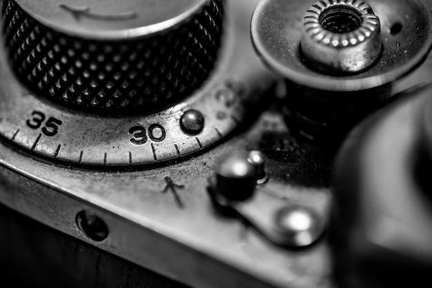 Zähler auslöser und rückspulhebel der vintage entfernungsmesser