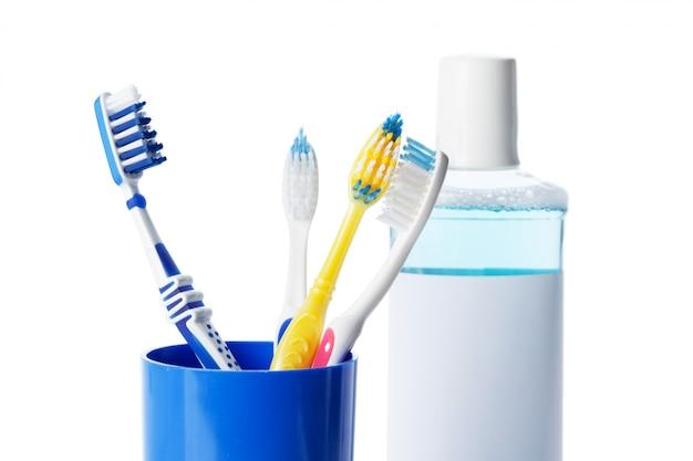Zahnärztliche instrumente und zahnbürste Premium Fotos