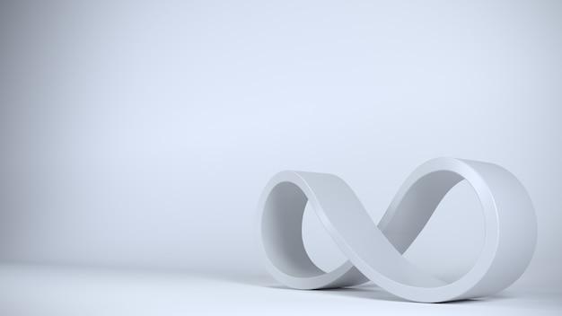 Zeichen unendlich blau spirale geschlossene form. Premium Fotos