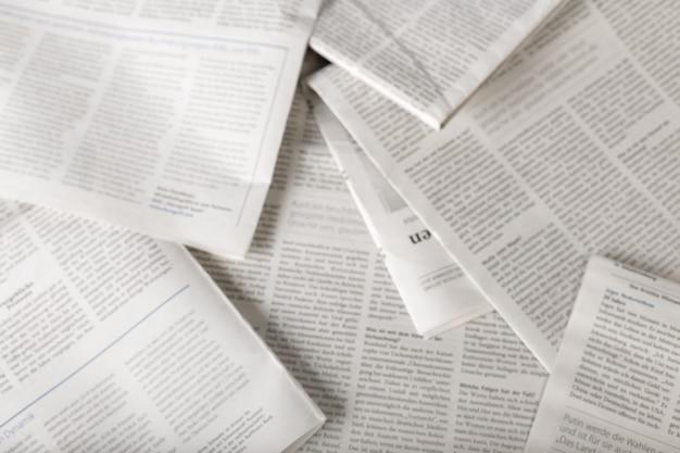 Zeitung, ansicht von oben Premium Fotos