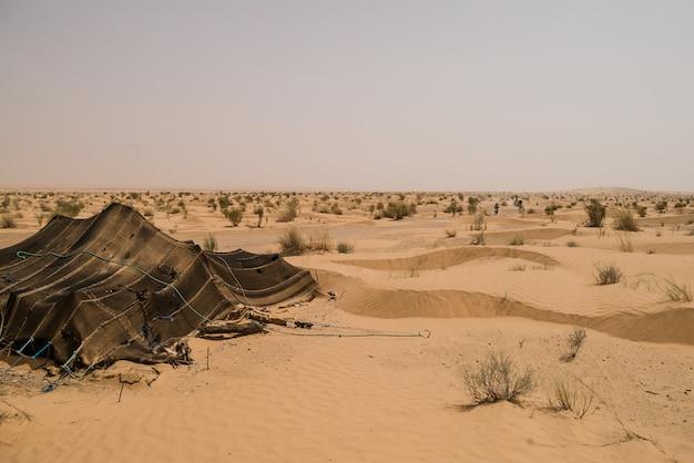 Zelt in der sahara Premium Fotos