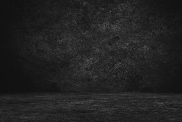 Zementboden- und wandhintergründe, dunkler raum, innenraum, anzeigenprodukt. Premium Fotos