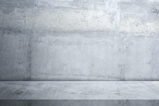Zementboden und wandhintergrund Premium Fotos