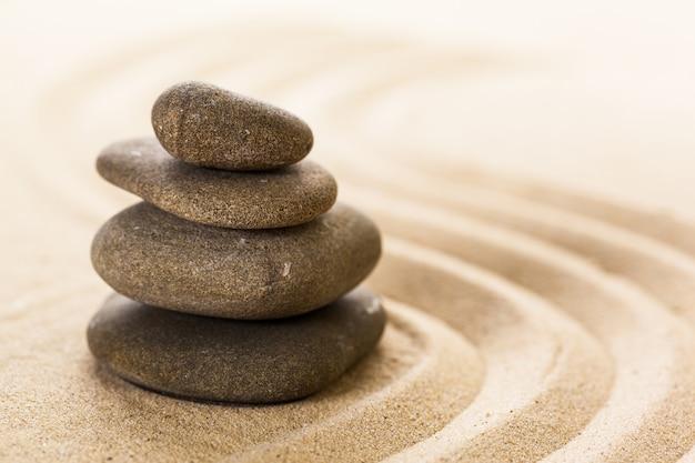 Zen garten meditationsstein Premium Fotos