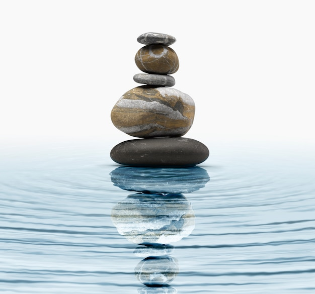 Zen steine im wasser Premium Fotos