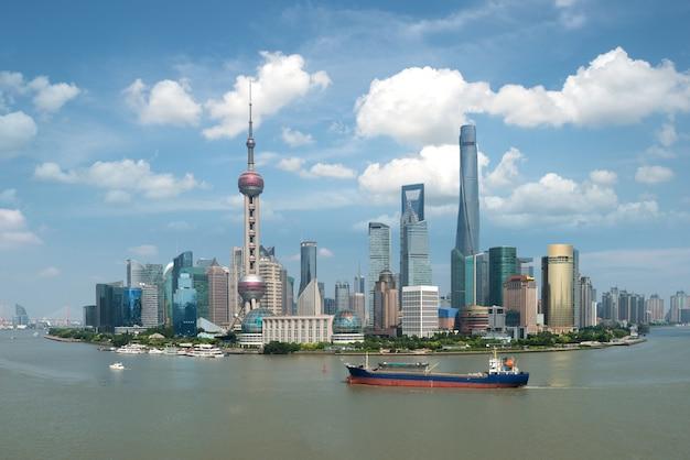 Zentrales geschäftszentrum shanghais lujiazui pudong in shanghai, china. Premium Fotos