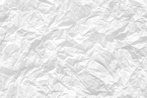 Zerknitterter weißer papierhintergrund Premium Fotos