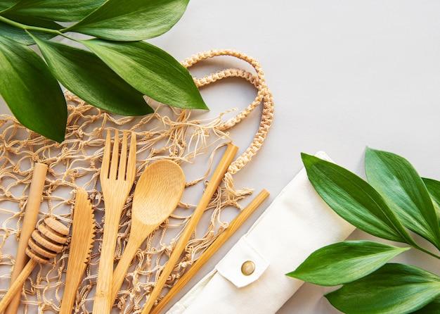 Zero waste concept küchenutensilien Premium Fotos