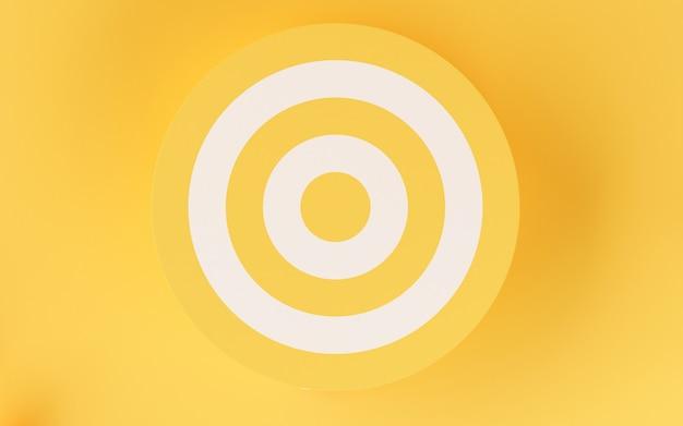 Ziel 3d auf gelbem hintergrund. Premium Fotos