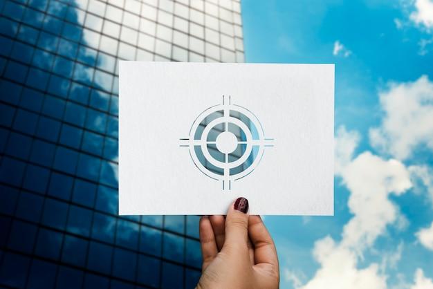 Ziele zielen auf aspiration perforiertes papier bullauge Kostenlose Fotos