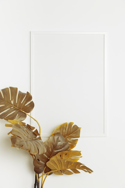 Zierpflanze mit leerem rahmen Kostenlose Fotos
