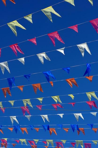 Zierwimpel von festas juninas Premium Fotos