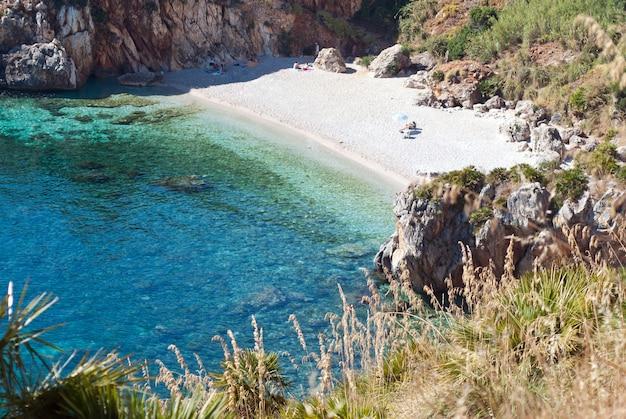 Zingaro natural reserve, sizilien, italien Premium Fotos