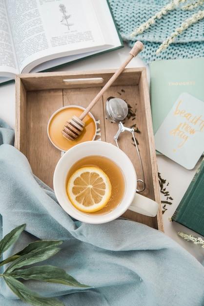 Zitronentee mit honig Premium Fotos