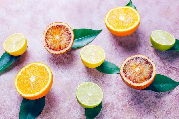 Zitrusfrüchte, draufsicht Kostenlose Fotos