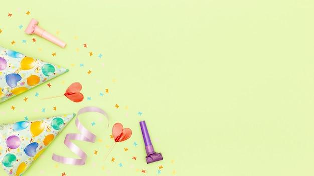 Zubehör für party mit textfreiraum Kostenlose Fotos