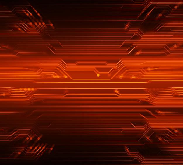 Zukunftstechnologie-konzepthintergrund des roten cyberstromkreises Premium Fotos
