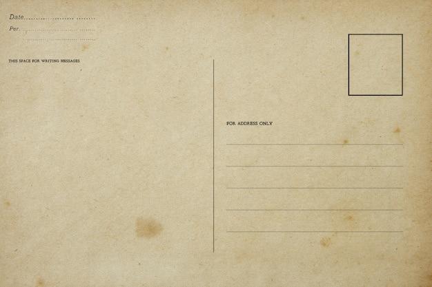 Zurück von der leeren weinlesepostkarte mit schmutzigem fleck Premium Fotos