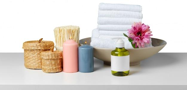 Zusammensetzung der spa-behandlung Premium Fotos