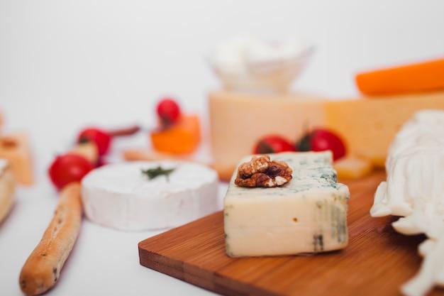 Zusammensetzung der verschiedenen käsesorten Kostenlose Fotos
