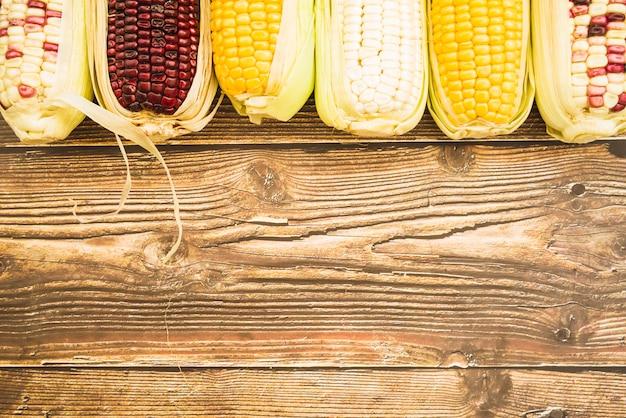 Zusammensetzung des mehrfarbigen mais auf pfeiler Kostenlose Fotos