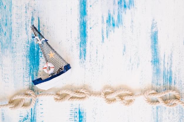 Zusammensetzung von marineelementen mit copyspace Kostenlose Fotos