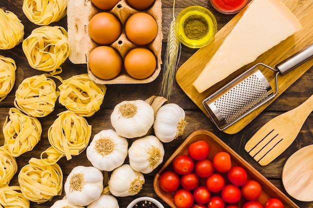 Zutaten für pasta kochen Kostenlose Fotos
