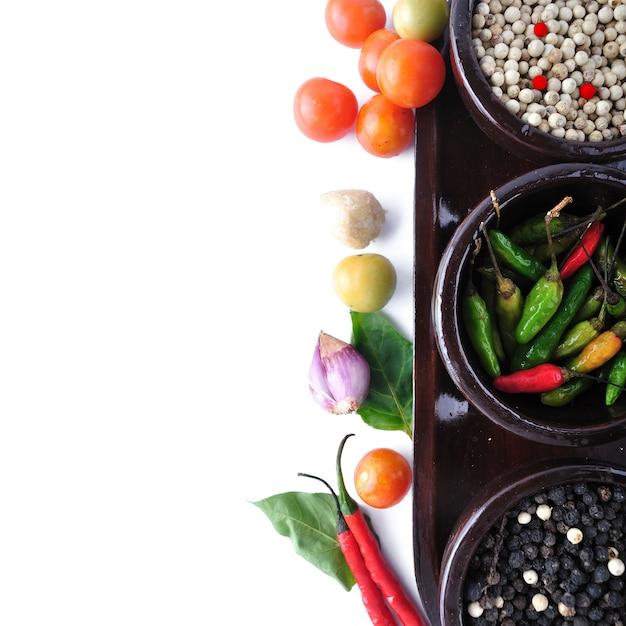 Zutatenmenü zum kochen mit gemüse Premium Fotos